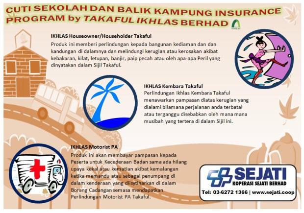 Cuti Sekolah Dan Balik Kampung Insurance Program by Takaful Ikhlas P1